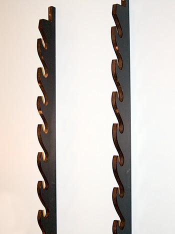 7 sword wooden wall sword rack